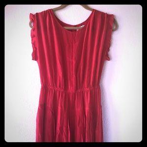 Madewell red silk dress